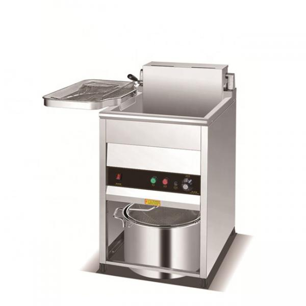 Stainless Steel Electric Fryer 1 Tank 1 Basket Commercial Using Hot Sale #1 image